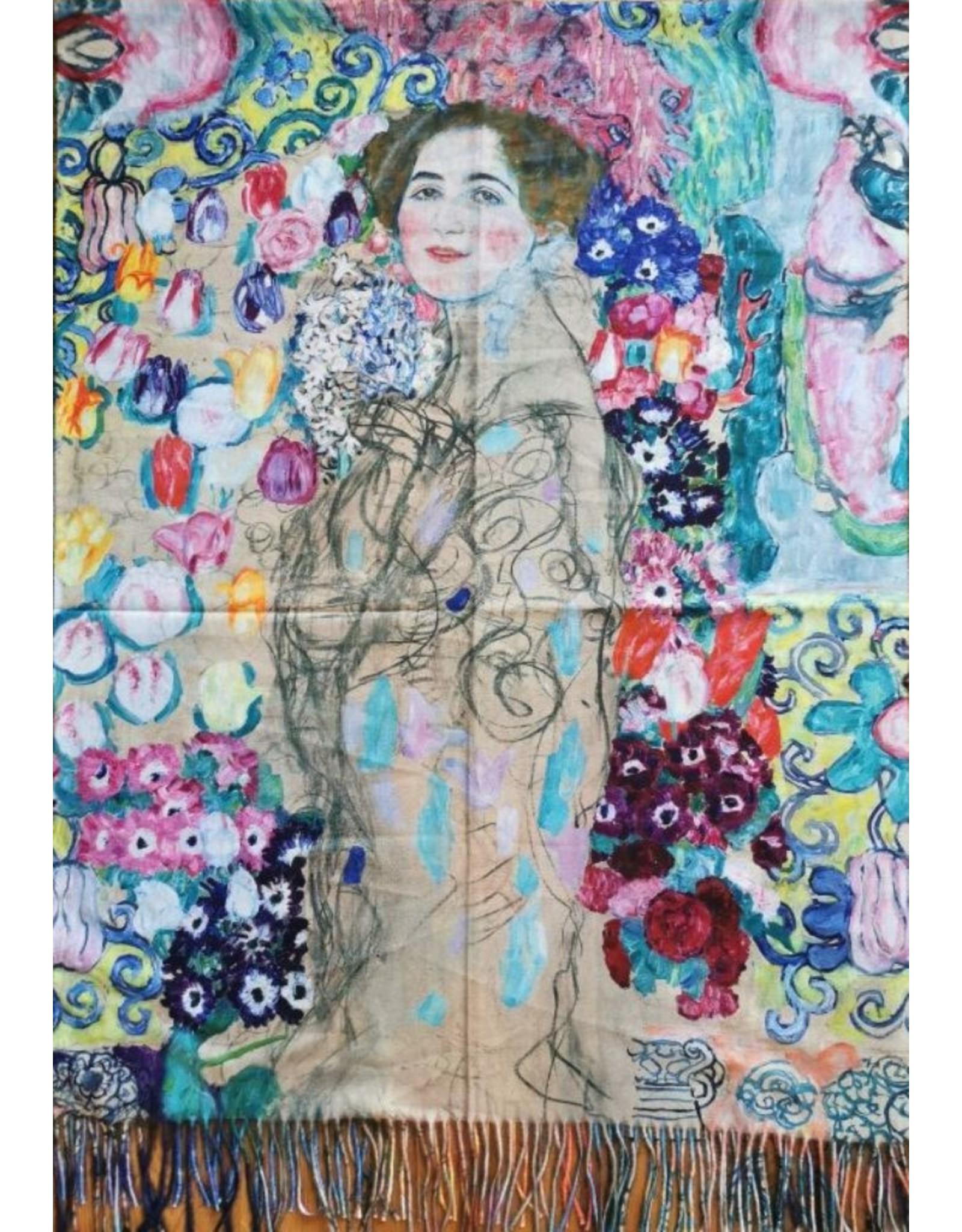 MC Miscellaneous - Omslagdoek Gustav Klimt - Ria Munk, dubbelzijdige print