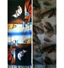 MC Shawl Salvador Dali - double sided - The Persistence of Memory