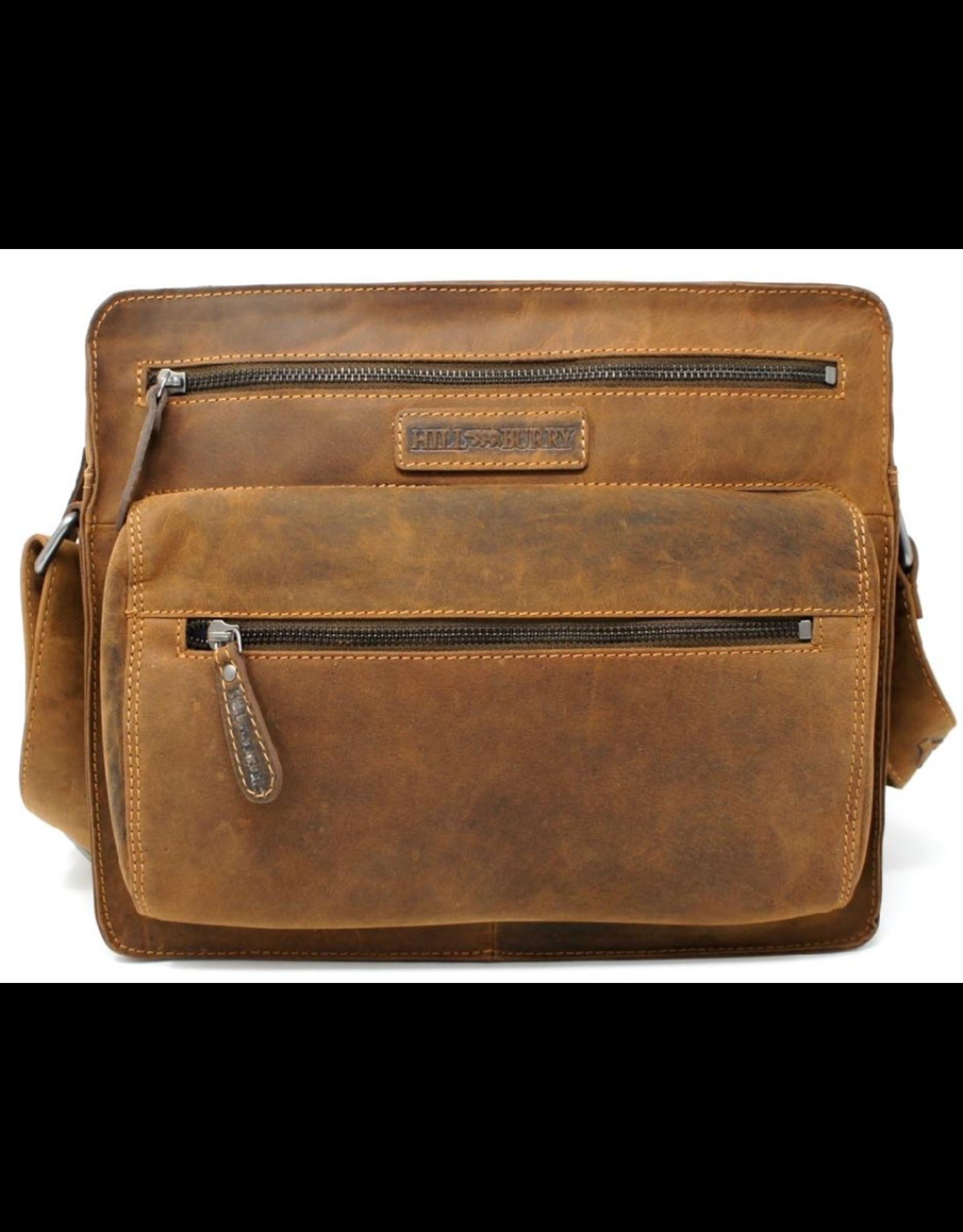 HillBurry Leather bags -  HillBurry Unisex Leather Shoulder Bag (rectangle model)