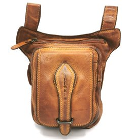 HillBurry HillBurry leather belt bag - leg bag washed leather cognac