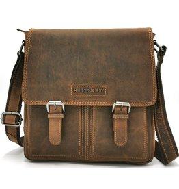 HillBurry HillBurry Leather Crossbody bag (Dark Tan)