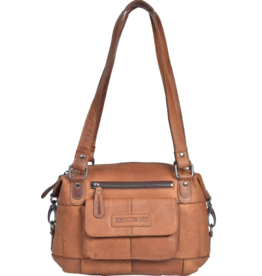 HillBurry HillBurry Leather Shoulder bag medium (cognac)