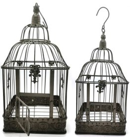 Decoratieve Vogelkooi Metal Birdcage Vintage Look - Set of 2