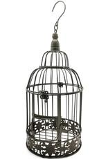 Metalen Vogelkooi Vintage look donkerbruin, rond Miscellaneous - Metalen Vogelkooi Vintage Look (rond) - Set van 2