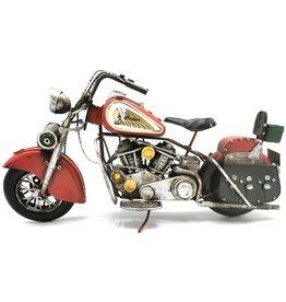 Indian Metal Vintage Indian Motorbike (red)