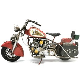 Indian Metalen Vintage Indian Motor (rood)