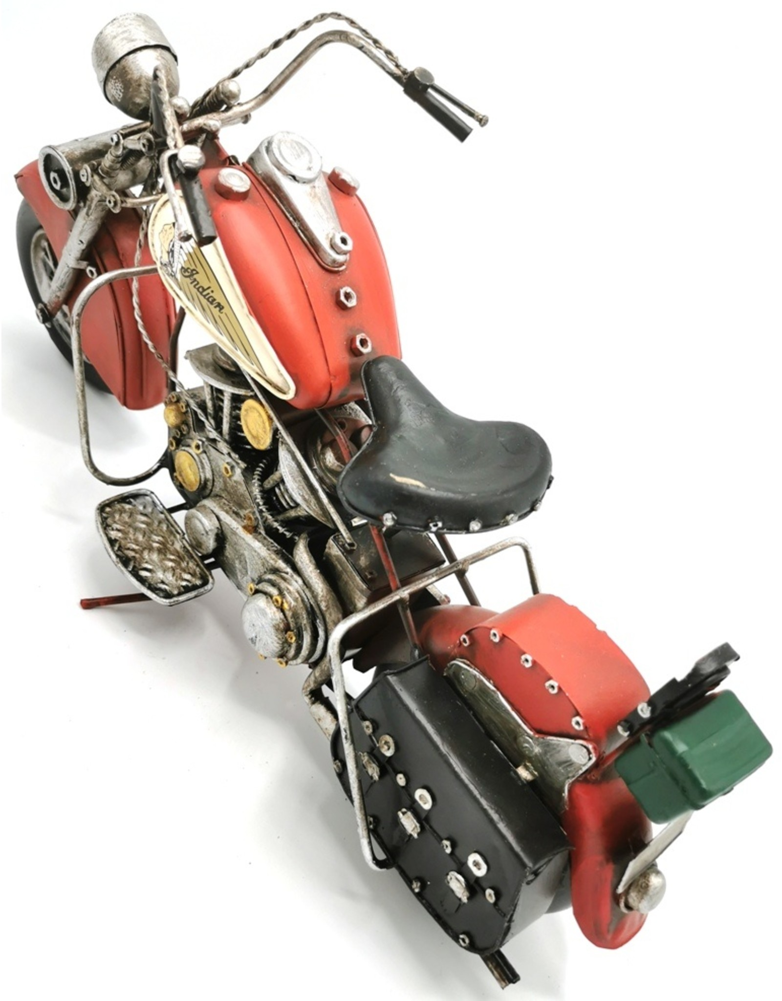 Indian Collectables - Metalen Vintage Indian Motor (rood)