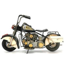 Vintage Indian Motor Metal Vintage Indian Motorbike (black-white)