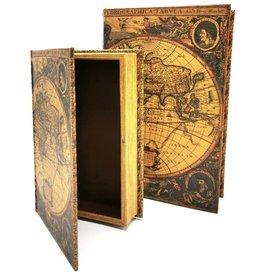 Trukado Storage box Book World Map - Set of 2