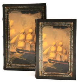 Trukado Storage box Book Sailing Ship - Set of 2