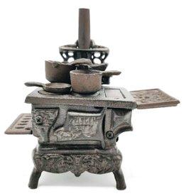 SH Miniature Cast Iron Stove Vintage look