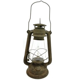Stormlantaarn metaal roest Vintagelook (LED-licht)