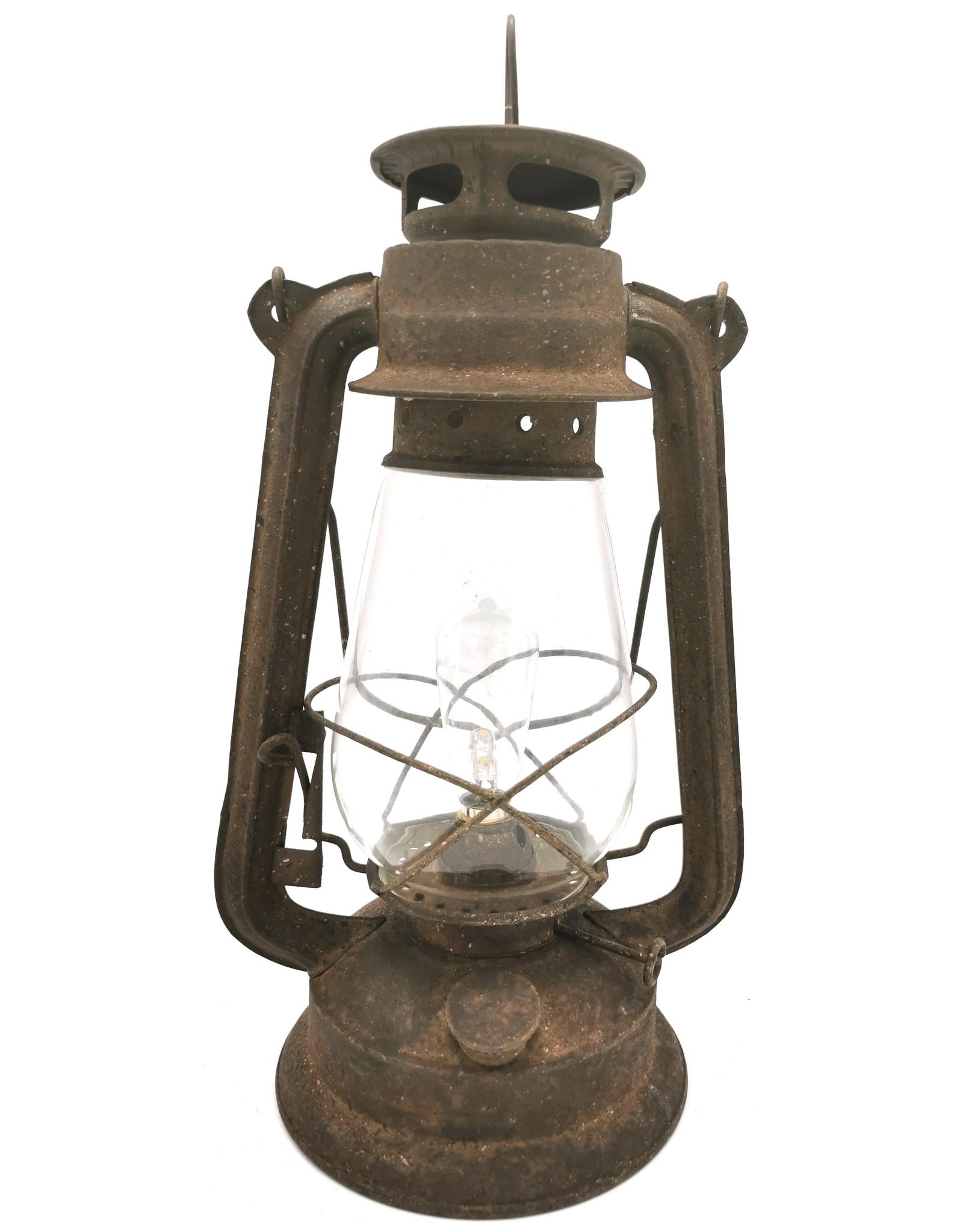 Giftware & Lifestyle -  Stormlantaarn metaal roest Vintagelook (LED-licht)