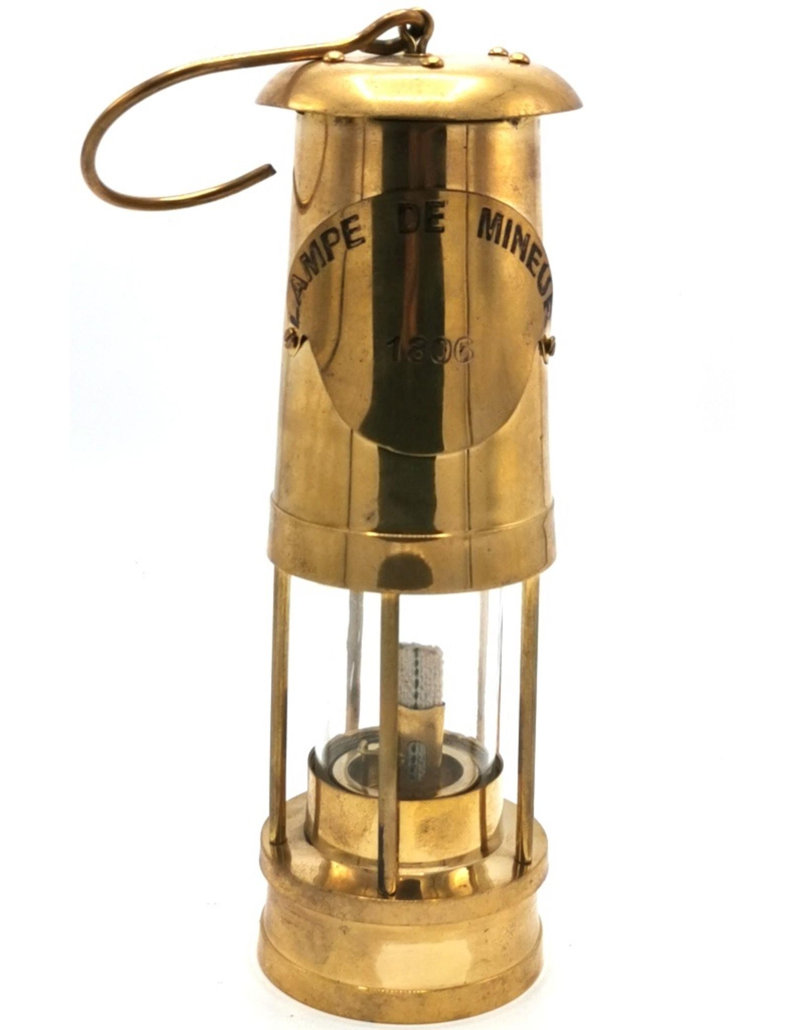 Giftware & Lifestyle - Olielamp Mijnwerkerslamp Vintage look - Messing