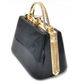 Xuna Retro lacquer handbag black