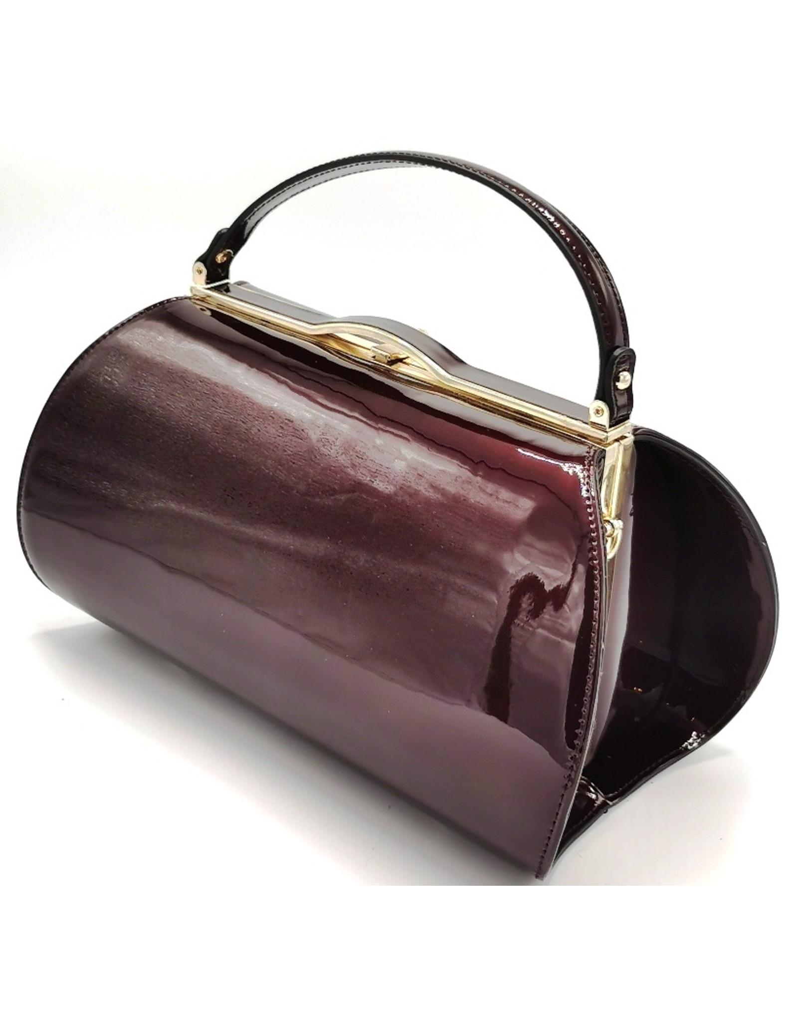 Lamsed Retro tassen Vintage tassen - Lak Handtas  Vintage Style - Wijnrood