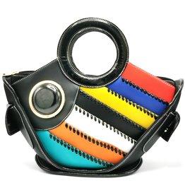 Angelo Fantasy Handbag Fish black