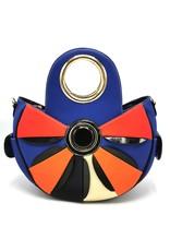 Angelo Modieuze handtassen en Schoudertassen - Flower Power Handtas Bloem blauw