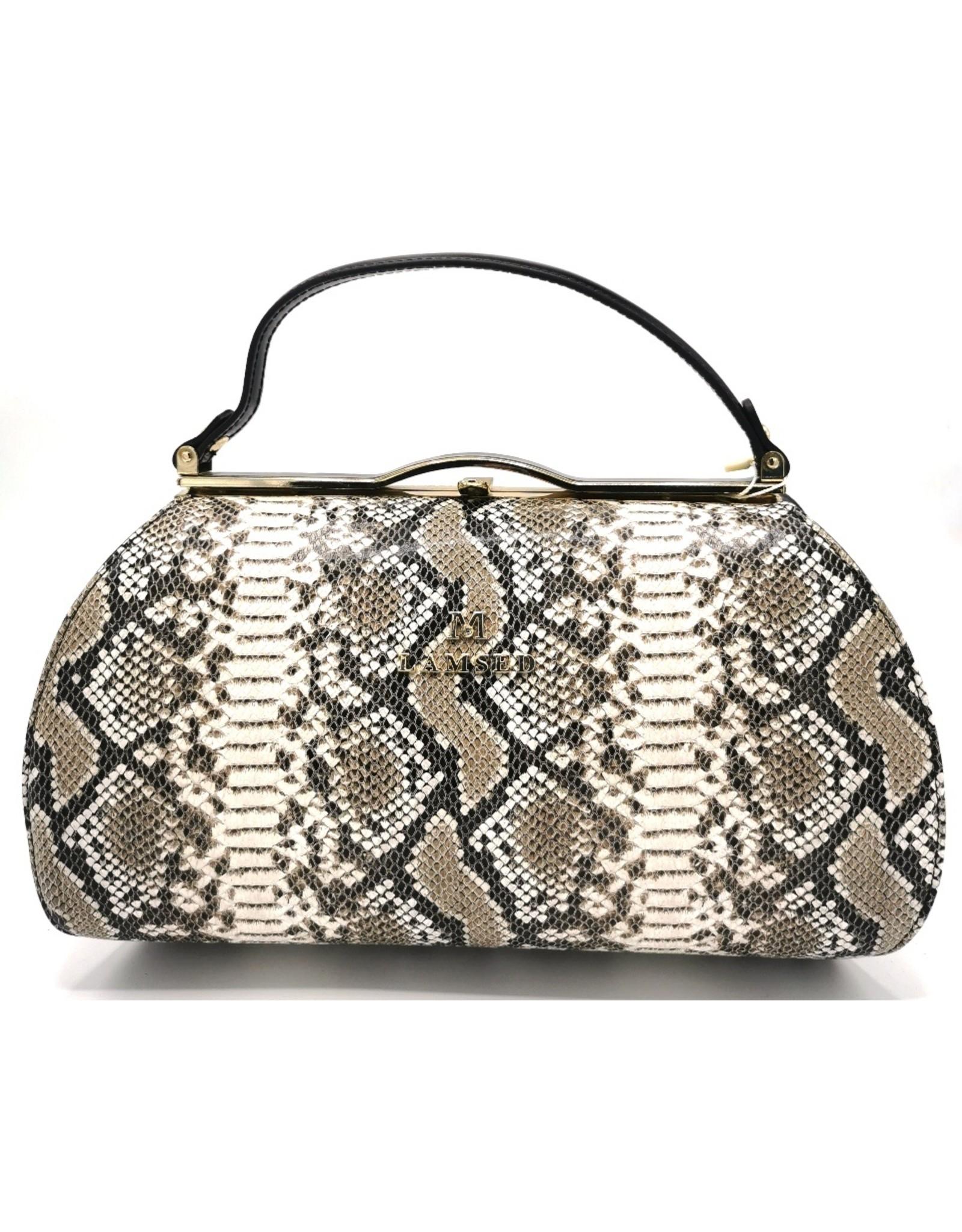 Lantadeli Retro tassen Vintage tassen - Handtas met Slangenprint Vintage style