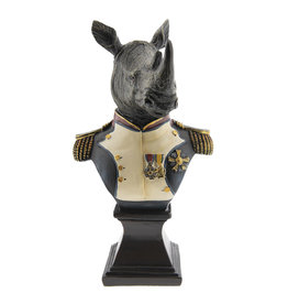 Trukado Neushoorn generaal beeld 26cm (buste)