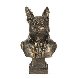 Bulldog aristocraat beeld 15cm (buste)