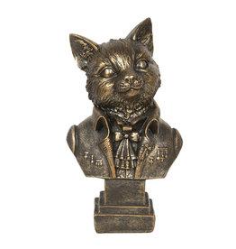 Kat aristocraat beeld 24cm (buste)