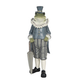 Trukado Frog with umbrella figurine 27cm