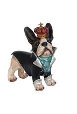 Trukado Giftware Beelden Collectables  - Bulldog met kroon beeld 25cm