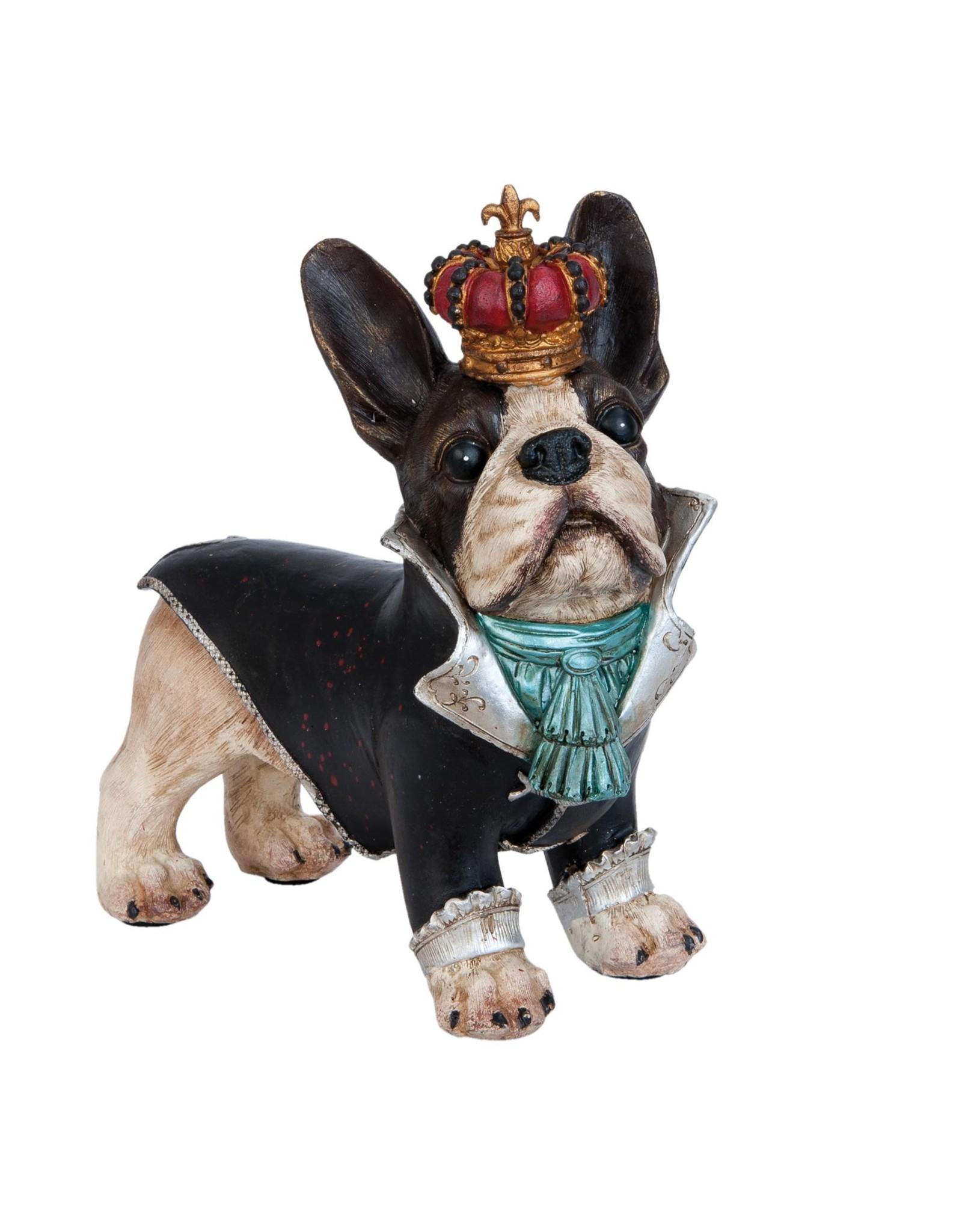 Giftware Beelden Collectables  - Bulldog met kroon beeld 25cm