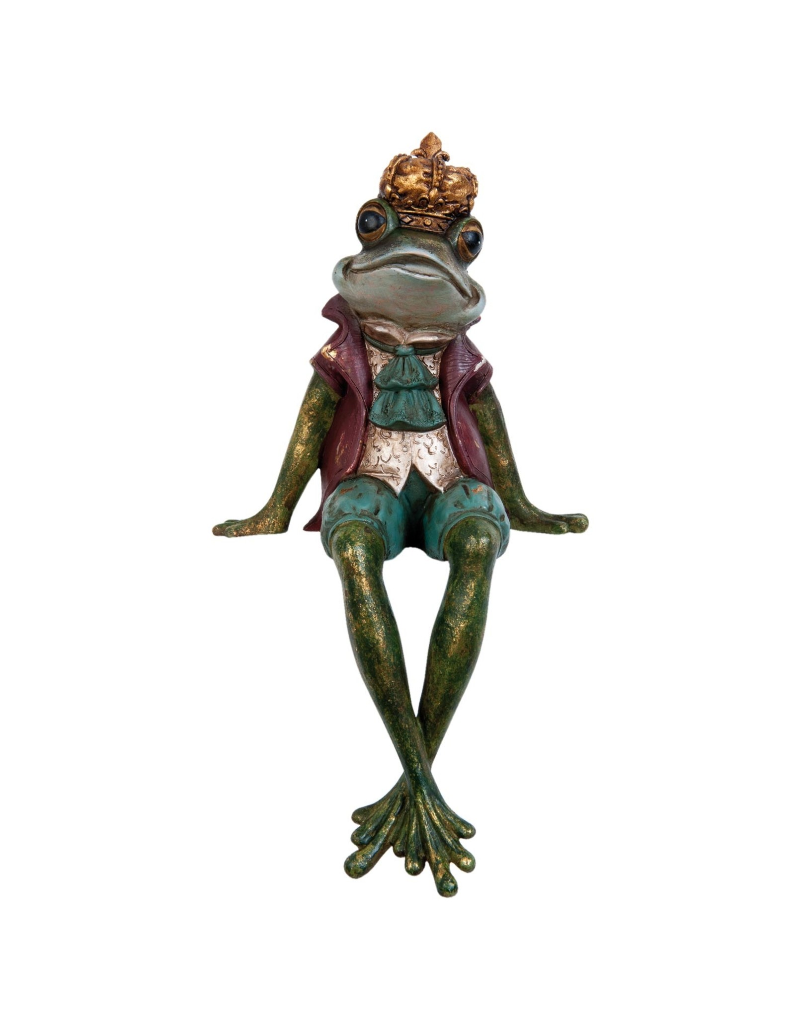 Giftware Beelden Collectables  - Kikkerprins  zittend beeld 32cm
