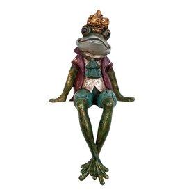 Kikkerprins  zittend beeld 32cm