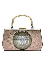 Magic Bags Retro tassen Vintage tassen - Handtas met Echte Klok vintage style grijs
