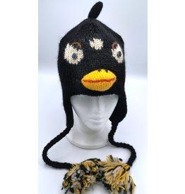 Trukado Gebreide muts Angry Bird zwart