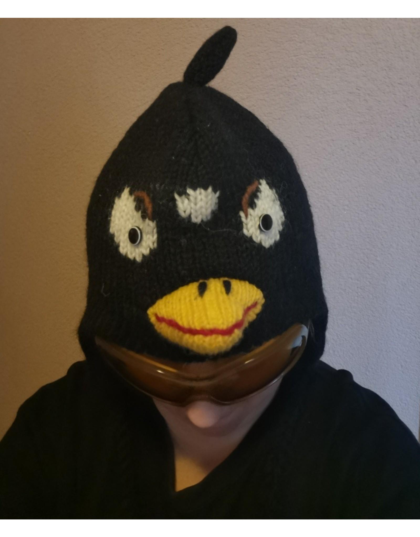 Trukado Miscellaneous - Gebreide muts Angry Bird zwart