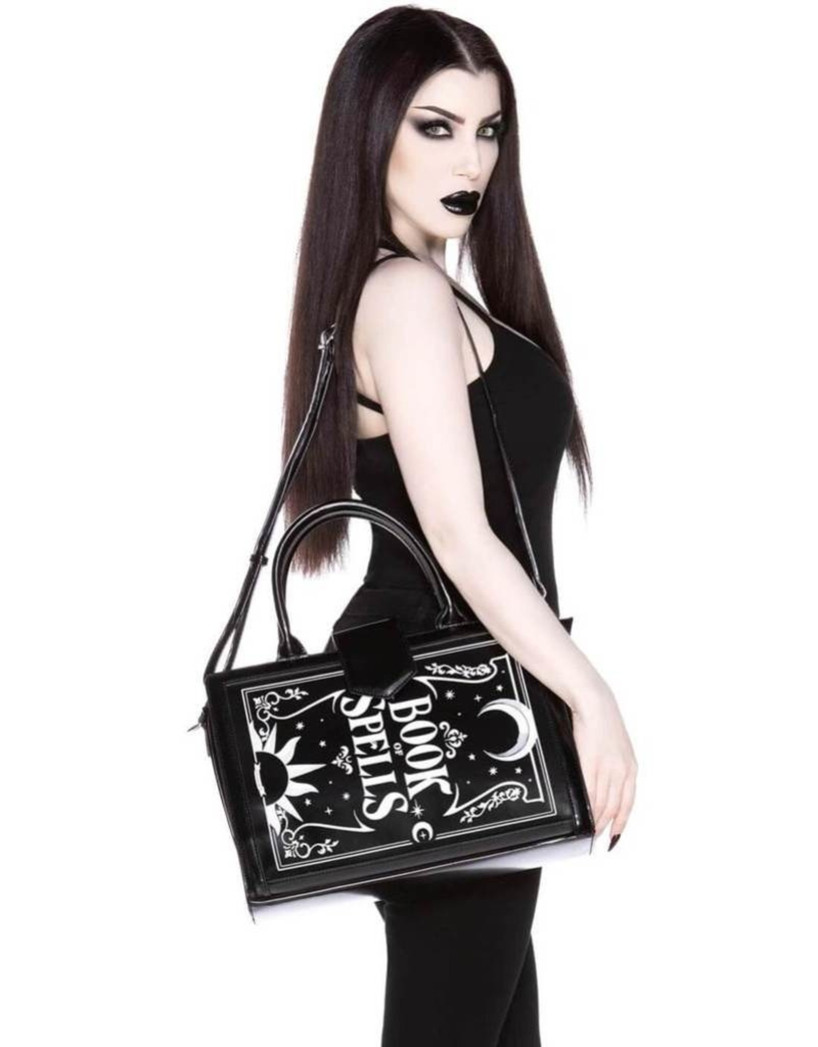 Killstar Killstar tassen en accessoires - Killstar Spellboek handtas (groot)