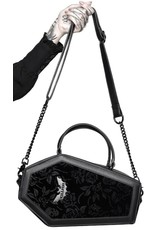 Killstar Killstar tassen en accessoires - Killstar Vampire's Kiss doodskist handtas (zwart)