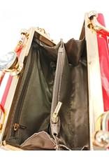 Valentina Retro tassen Vintage tassen - Glamour Retro Lak handtas rood