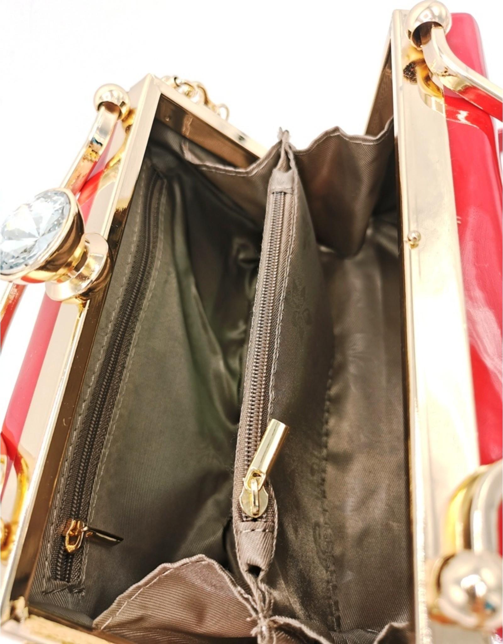 Valentina Retro bags  Vintage bags - Glamour Retro Lacquer handbag red