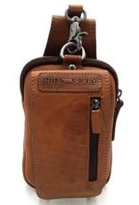 HillBurry Leren tassen - HillBurry Leren Riemtas Cognac