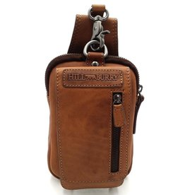 HillBurry Leather Belt Bag Cognac HillBurry