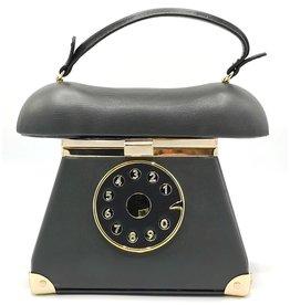 Magic Bags Retro Telefoon handtas grijs
