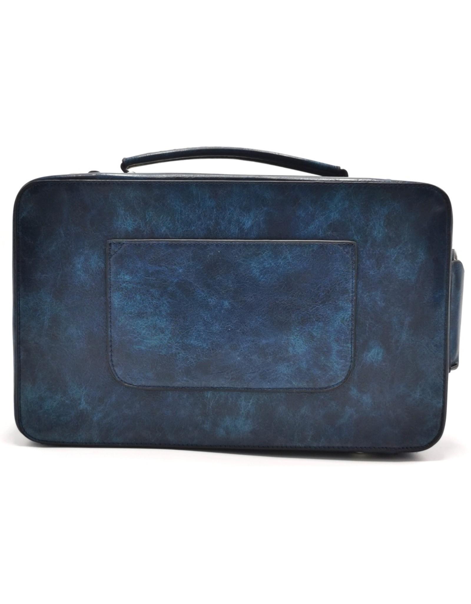 Eliox Fantasy tassen en portemonnees - Boombox Retro Radio Handtas met Echte Radio blauw