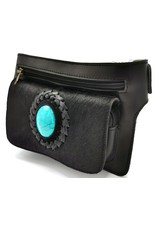 ONK Small leather bags, cluches and more - Cowskin Ibiza style waist bag black