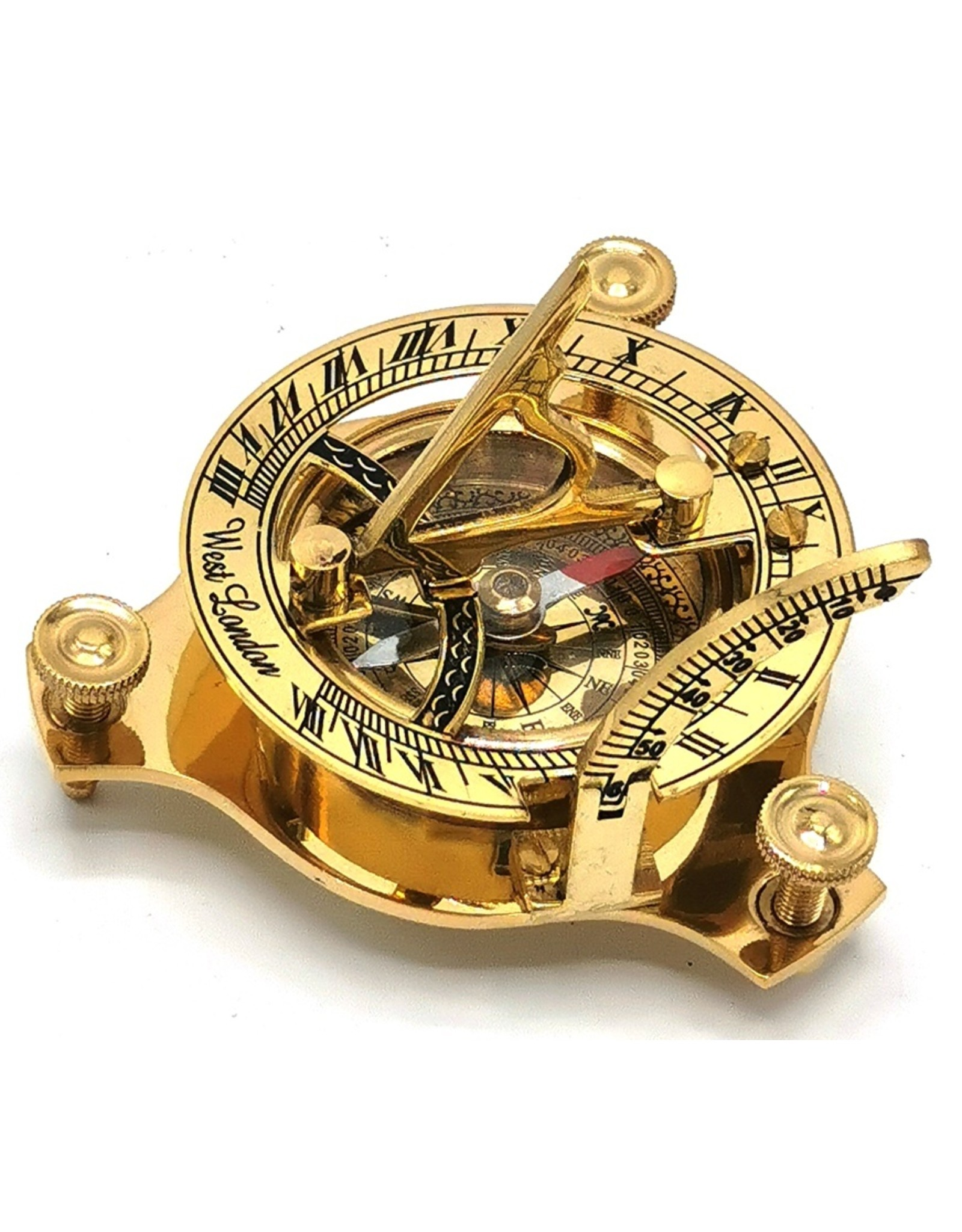 Trukado Gifrware, figurines, collectables - Compass with Sundial  (small) - brass