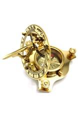 Giftware, beelden, collectables - Kompas met Zonnewijzer (klein) - messing