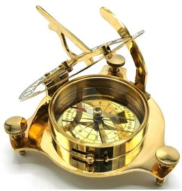 Zonnewijzer Kompas (groot) - messing
