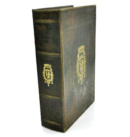 Trukado Storage Box Antique Book with golden Coat of arms