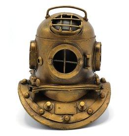 Miniature Diver helmet Vintage-look metal