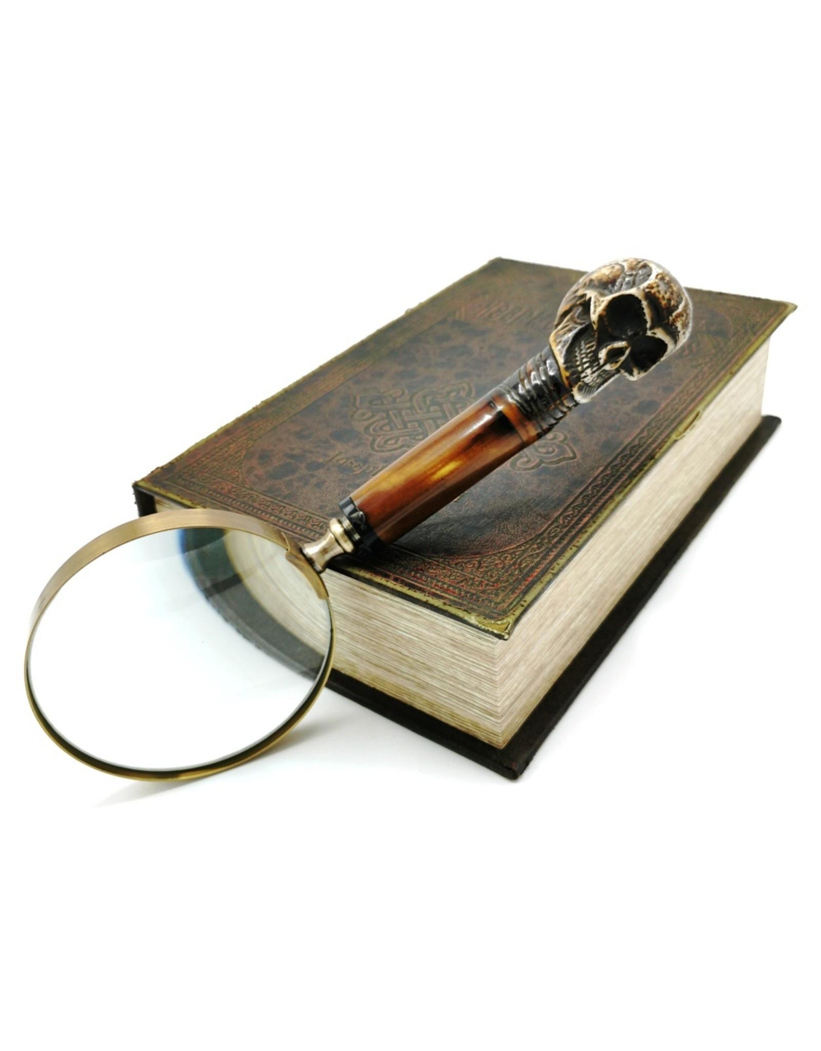 Trukado Gothic en Steampunk accessoires - Gothic Vergrootglas met schedel handvat