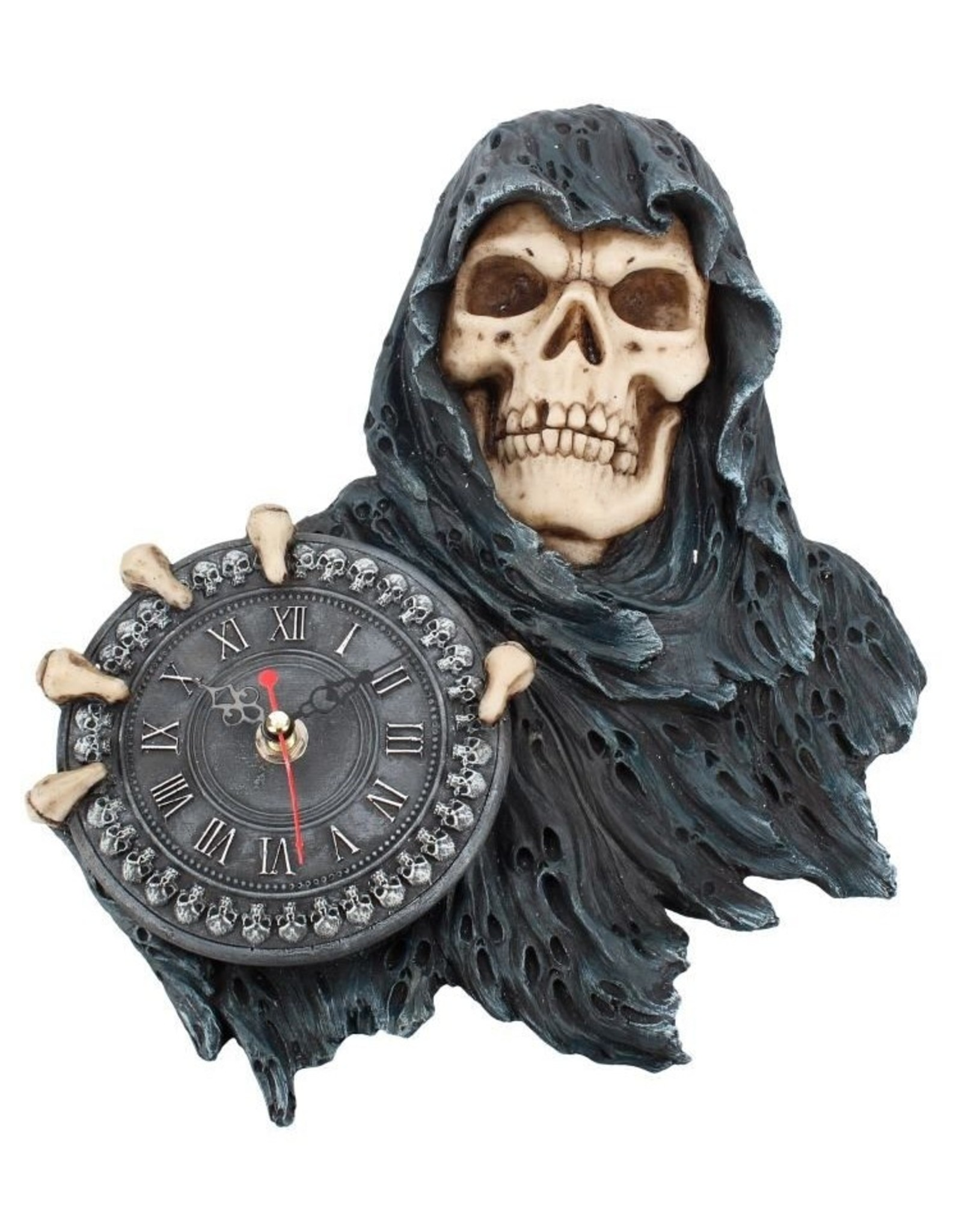 NemesisNow Giftware Figurines Collectables - Gothic clock reaper Face of Time